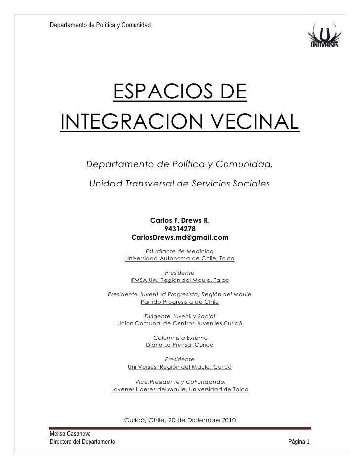 Juntas de vecinos   integridad y cultura - proyecto general