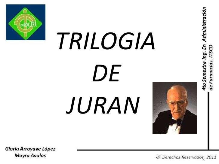 TRILOGIA<br /> DE <br />JURAN<br />