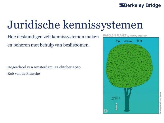 Juridische kennissystemen Hoe deskundigen zelf kennissystemen maken en beheren met behulp van beslisbomen. Hogeschool van ...
