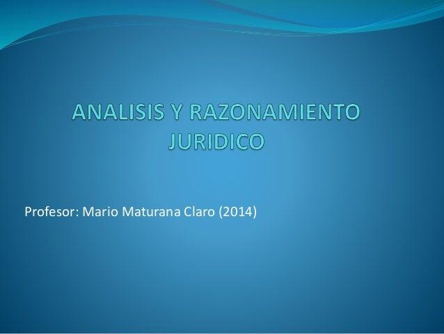Jurisprudencia análisis y razonamiento
