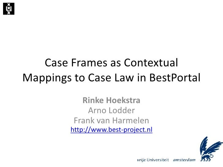 Case Frames as Contextual Mappings to Case Law in BestPortal