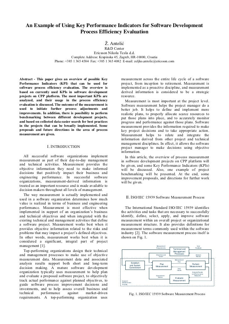 Jurnal   an example of using key performance indicators for software development