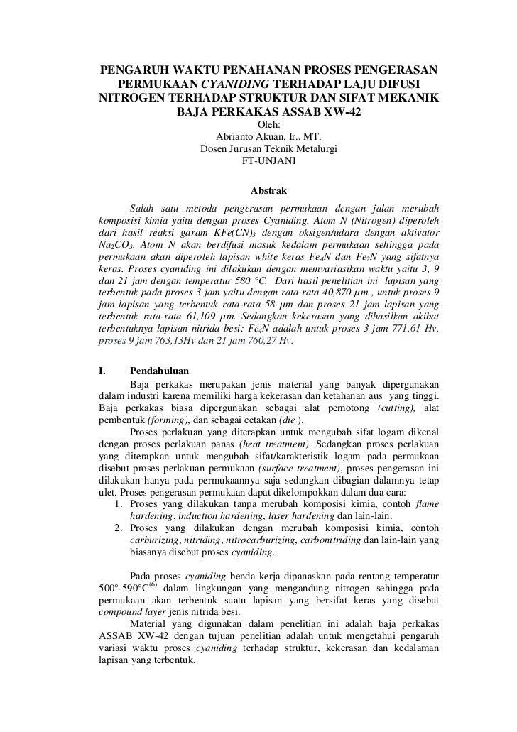 Jurnal proses cyaniding (AA)