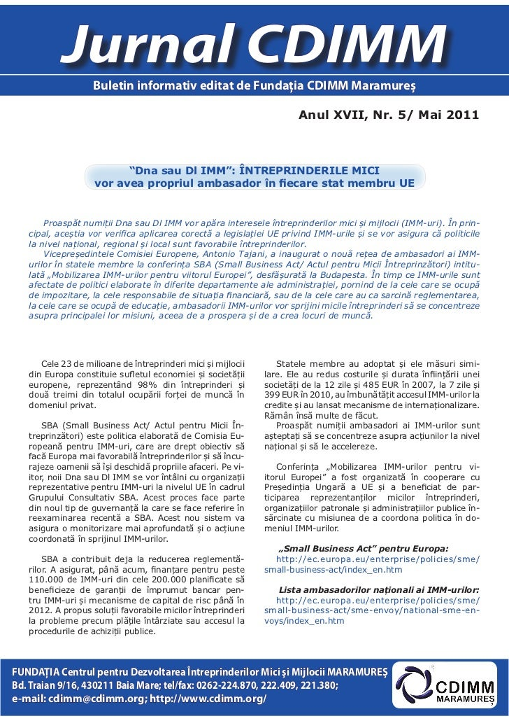 Jurnal cdimm nr.5_2011-ed maramures