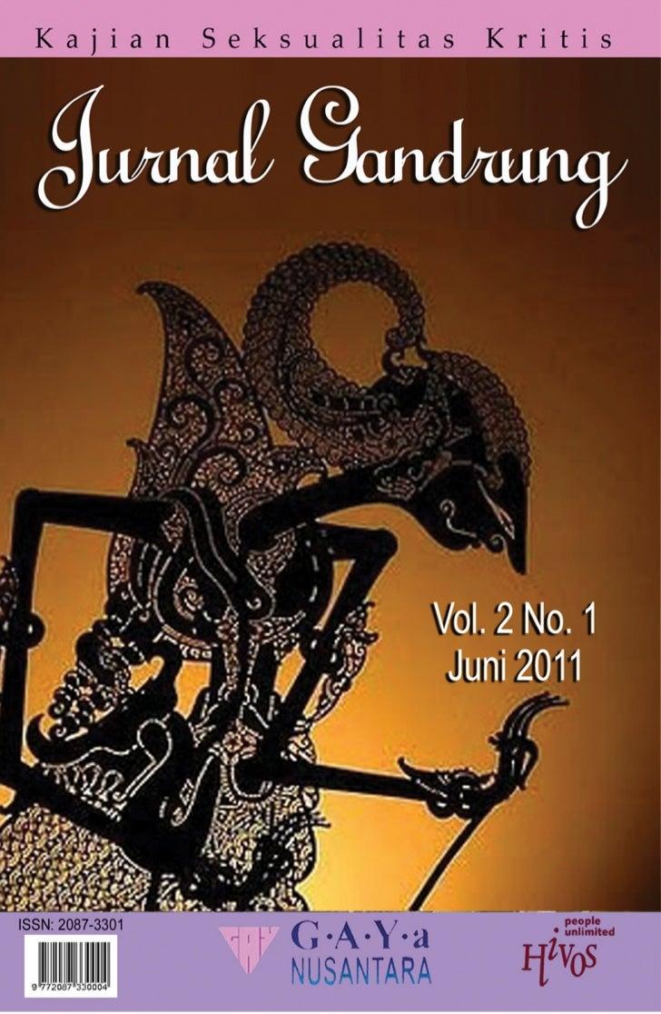 Jurnal gandrung vol2 no1 (e jurnal)