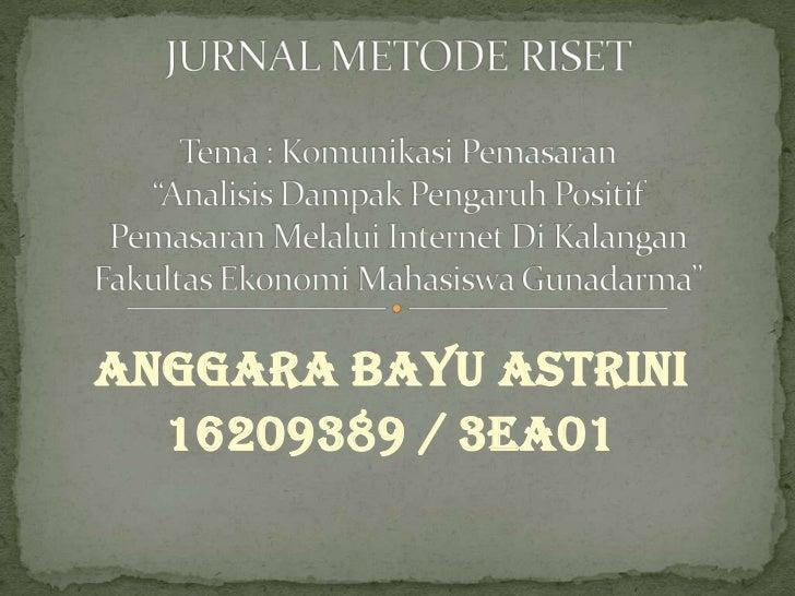 Anggara Bayu Astrini  16209389 / 3EA01