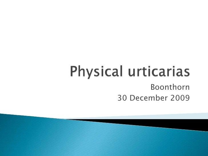 Physical urticaria