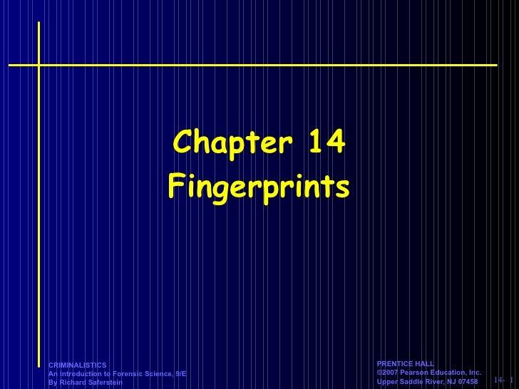 Chapter 14 Fingerprints