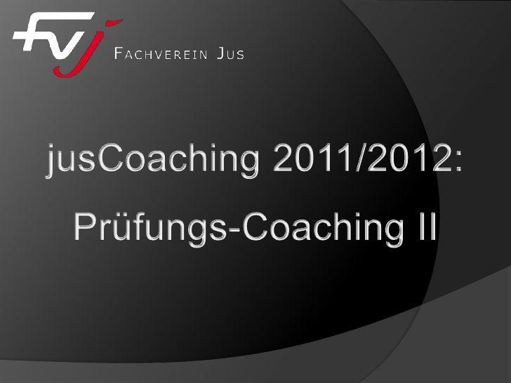 Jus coaching   prüfungs-coaching ii 2012