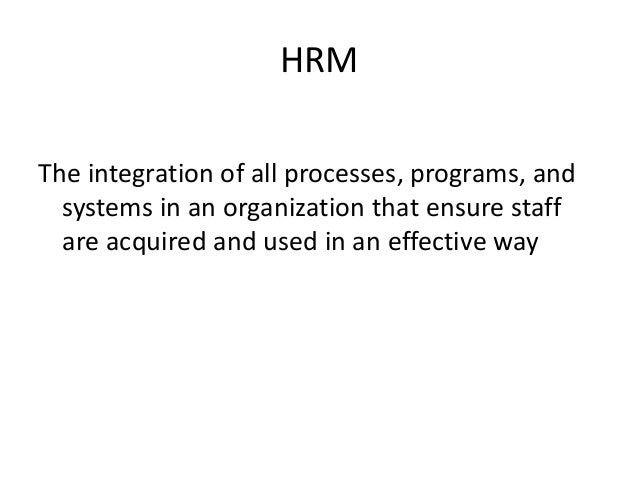 literature review of strategic human resource management First, a literature review is presented about human resources management, its  strategic  from the perspective of strategic hrm, policies and practices can be .