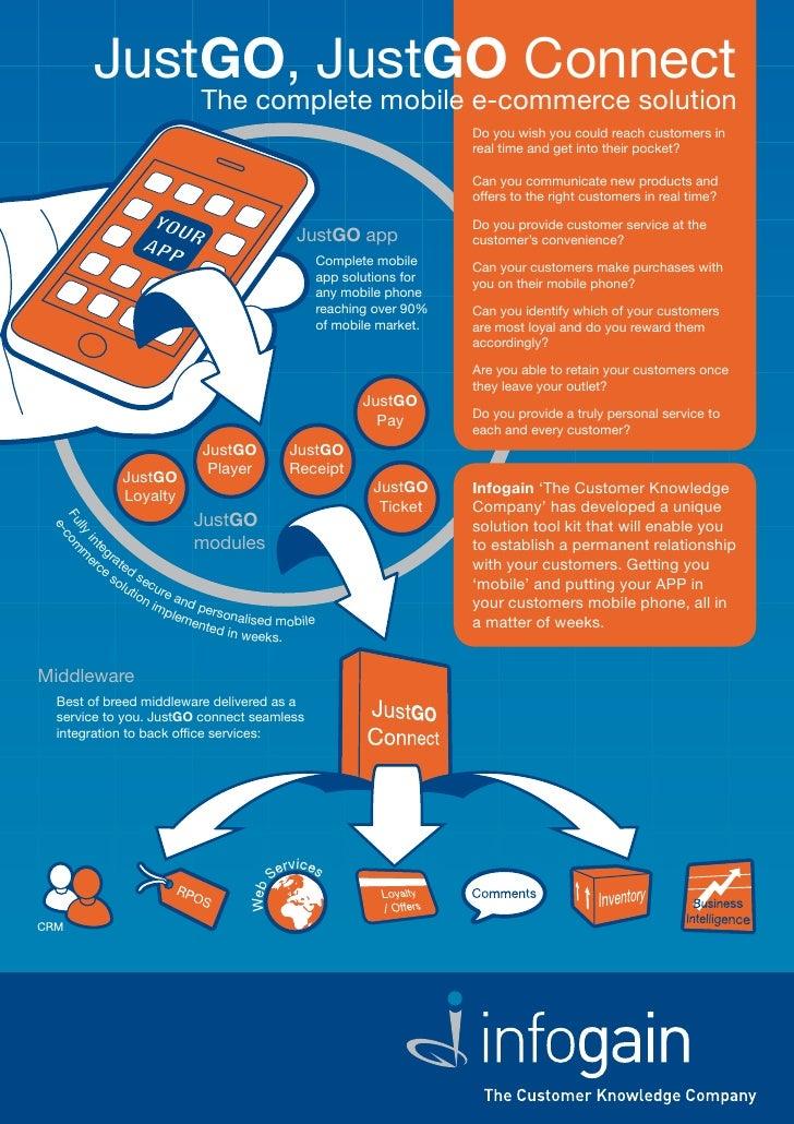 JustGO, JustGO Connect                          The complete mobile e-commerce solution                                   ...