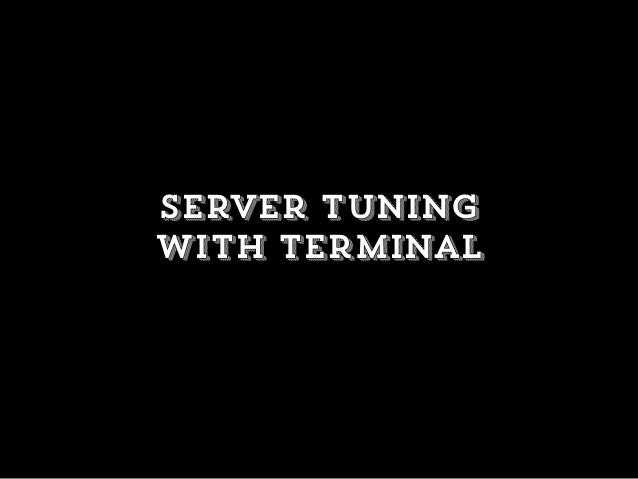Server tuning with terminal