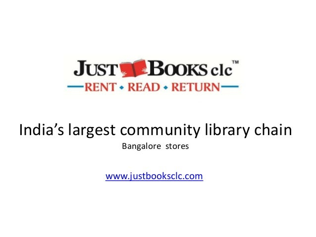 India's largest community library chainBangalore storeswww.justbooksclc.com