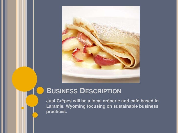 Crepe business plan