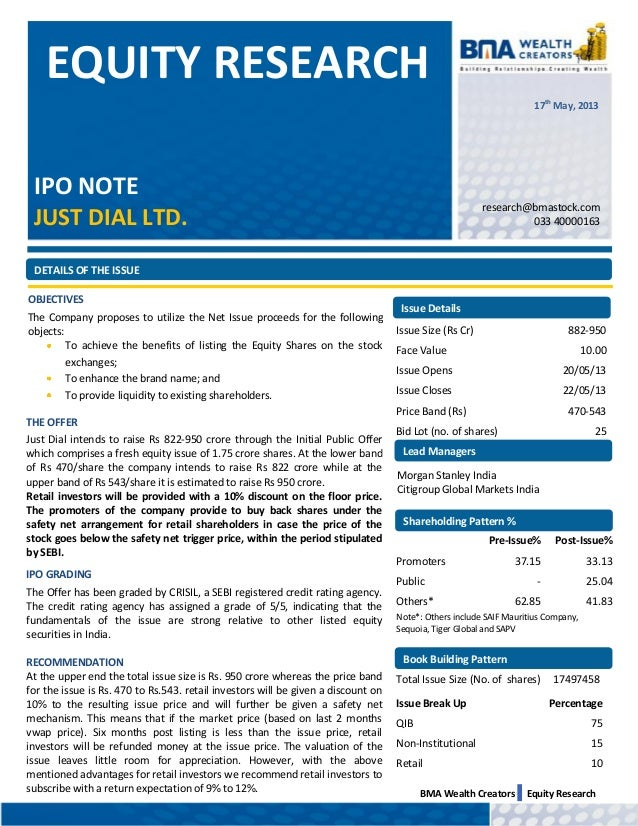Just dial ipo_note