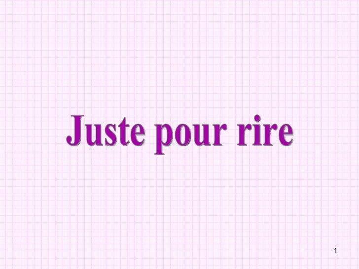 Juste Pour Rire Lolo