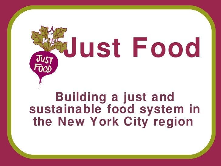 Farm City Forum - Session 3 - Just Food
