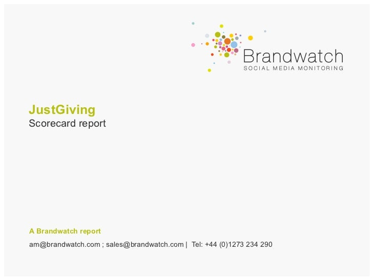 Scorecard Report: JustGiving