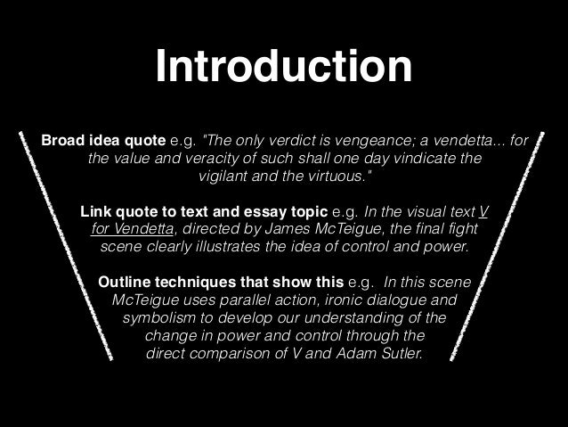 v for vendetta justice essay This presentation outlines some of the film techniques dealt with in one of the closing scenes of v for vendetta it's aim is to help scaffold writing an essay.