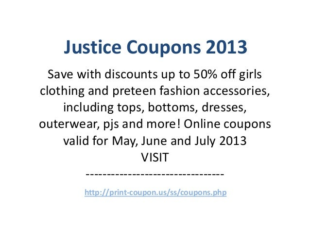 Justice Coupons Code May 2013 June 2013 July 2013
