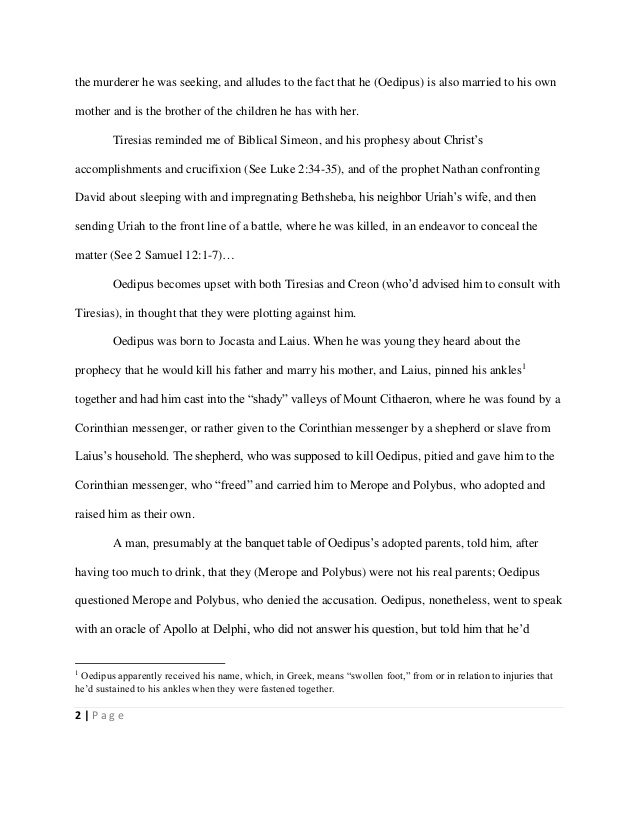 Oedipus rex essay themes