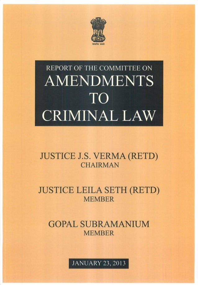 Justice JS Verma Committee Report