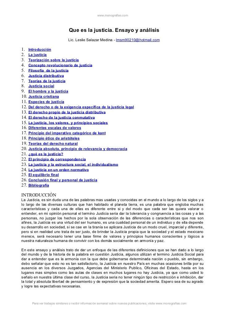 www.monografias.com                                Que es la justicia. Ensayo y análisis                                Li...