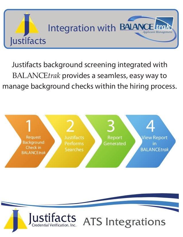 BALANCEtrak Background Check Integration