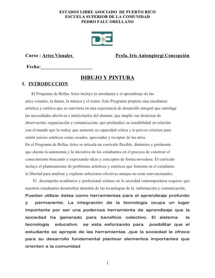 ESTADOS LIBRE ASOCIADO DE PUERTO RICO                        ESCUELA SUPERIOR DE LA COMUNIDAD                             ...