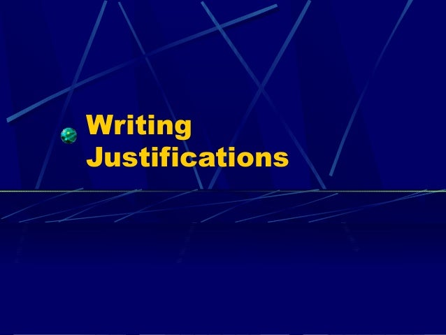 WritingJustifications