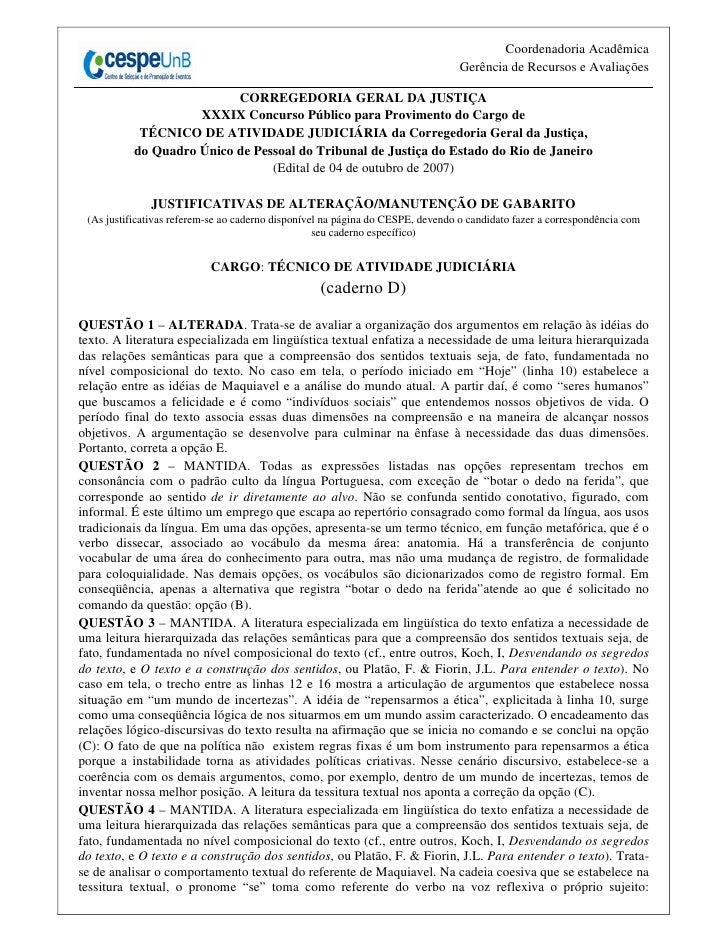 Coordenadoria Acadêmica                                                                                 Gerência de Recurs...