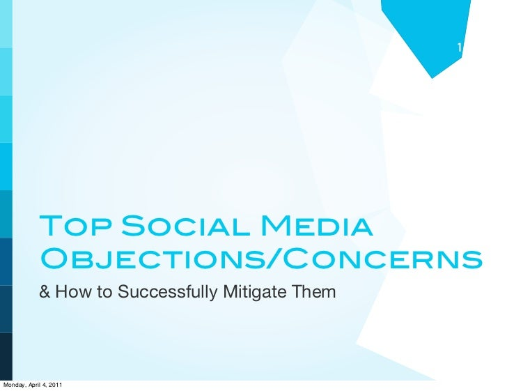 1            Top Social Media            Objections/Concerns            & How to Successfully Mitigate ThemMonday, April 4...