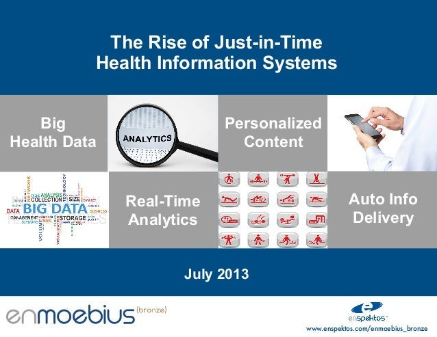 The Rise of Just-in-Time Health Information Systems Big Health Data  Personalized Content  Real-Time Analytics  Auto Info ...