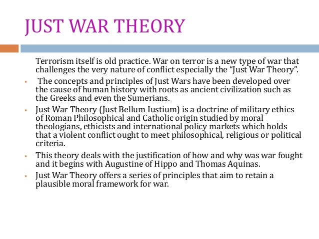 just war theory wwii Liberalism is a theory that emerged  and would not war with each other this theory was  thanks for contributing a theoretical view on what causes wars.