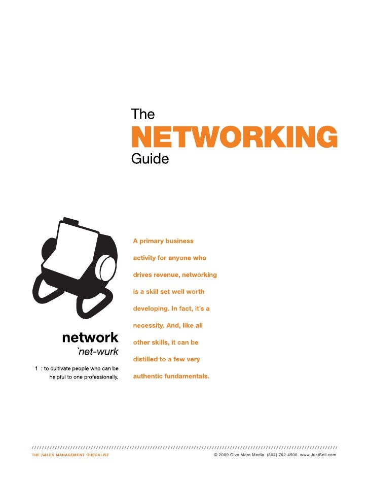 Just sell networking guide