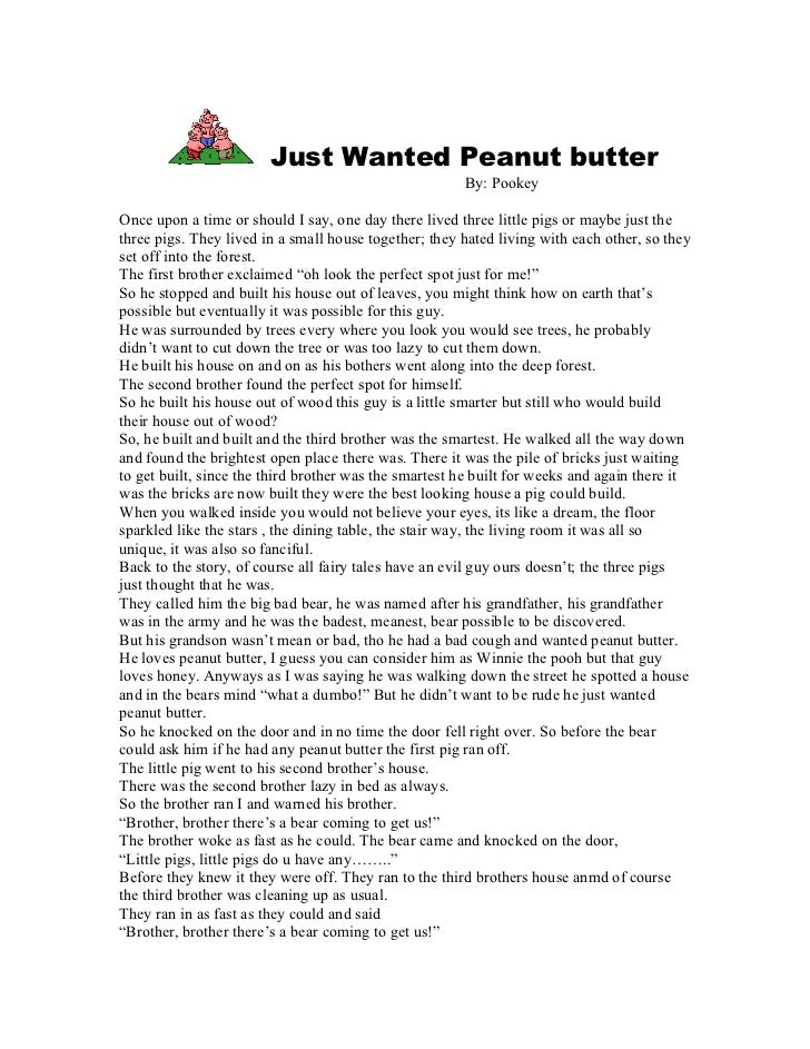 Just Wanted Peanut butter                                                       By: PookeyOnce upon a time or should I say...