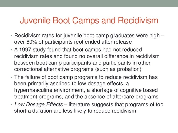 juvenile boot camp essay Free college essay juvenile bootcamps boot camp is an alternative to incarceration in this paper i will prove that boot camps for youthful offenders does.