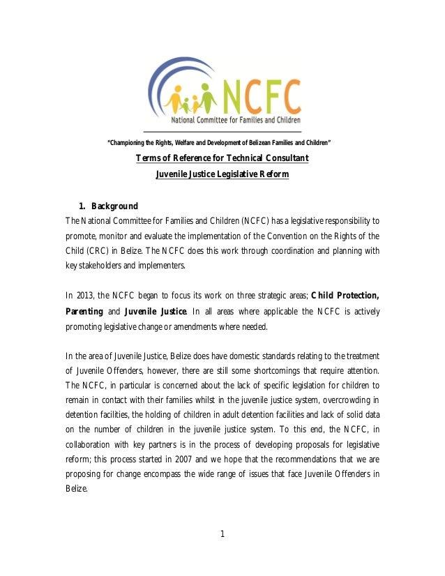 Juvenile justice Consultancy - Deadline extended
