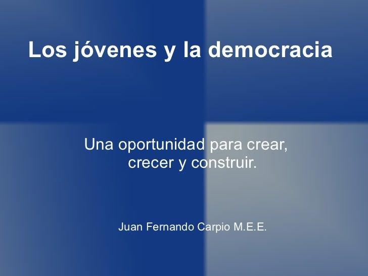 Juventud y democracia