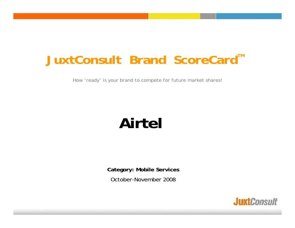 Juxt Consult Brand Scorecard Offline Category Snapshot