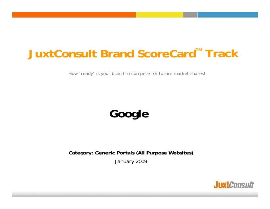 JuxtConsult Brand ScoreCard Track                                                                TM           How 'ready' ...