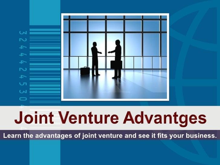 Joint Venture Advantages