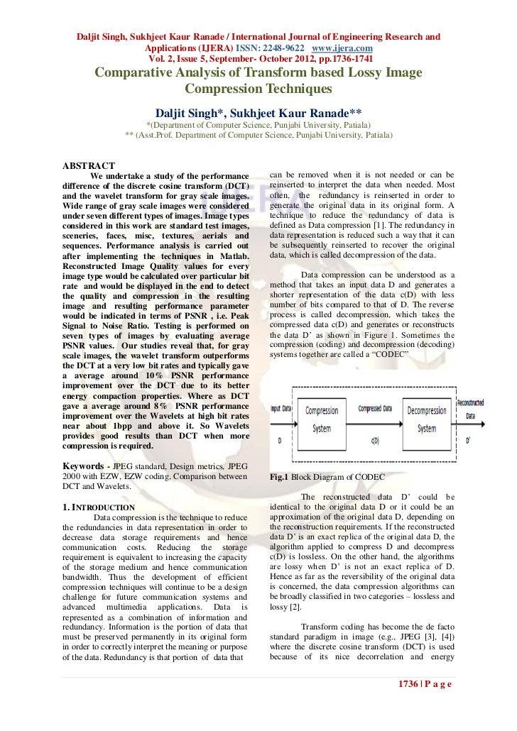 Daljit Singh, Sukhjeet Kaur Ranade / International Journal of Engineering Research and                     Applications (I...