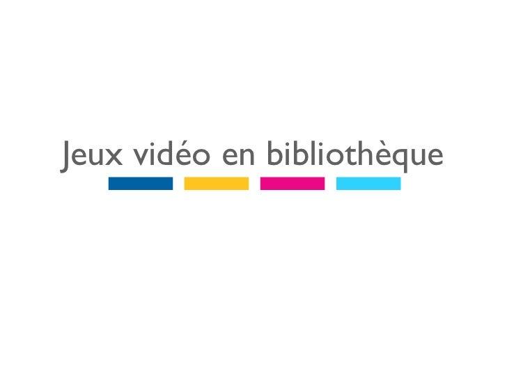 Formation SAPIENS - Jeu vidéo en bibliothèque