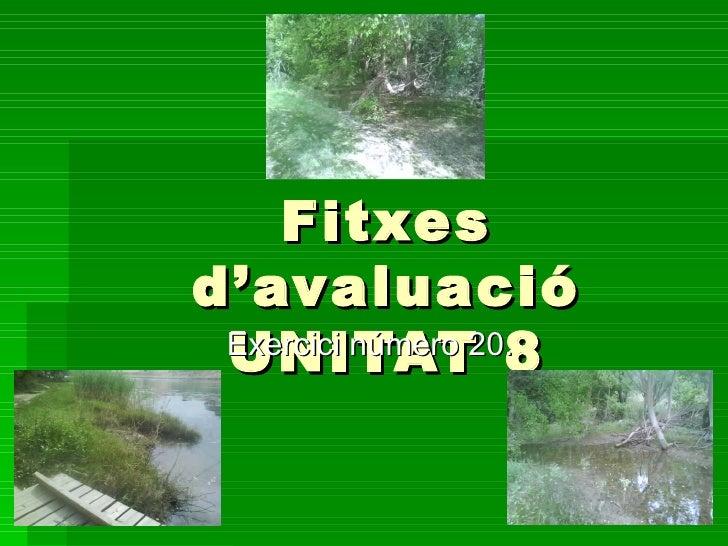 Fitxes d'avaluació UNITAT 8 Exercici número 20.