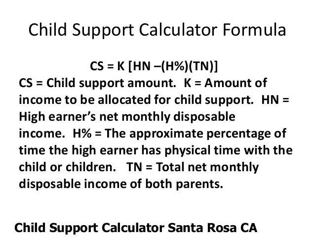Child support calculator tn 2015