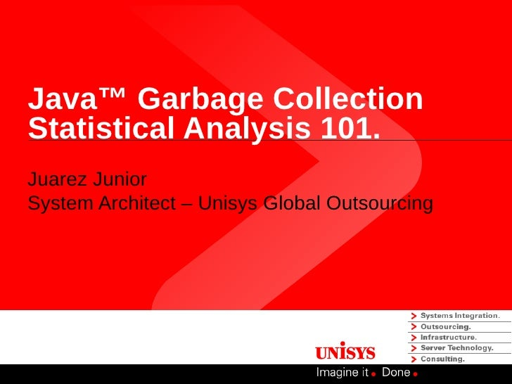 Java™ Garbage CollectionStatistical Analysis 101.Juarez JuniorSystem Architect – Unisys Global Outsourcing
