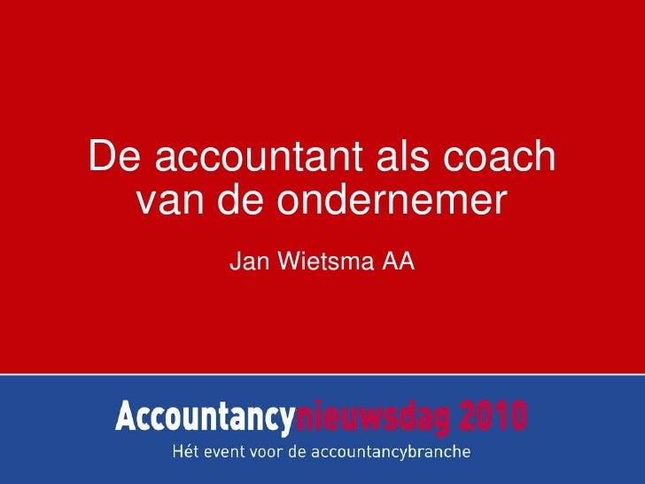 Accountant als coach van de mkb-ondernemer