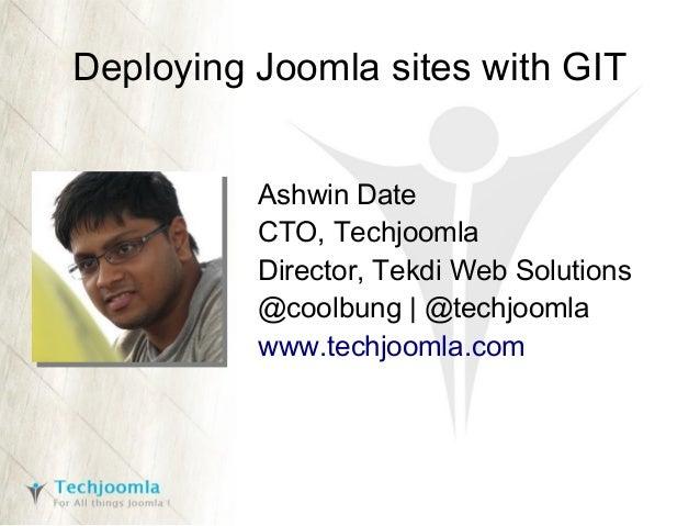 Deploying Joomla sites with GIT