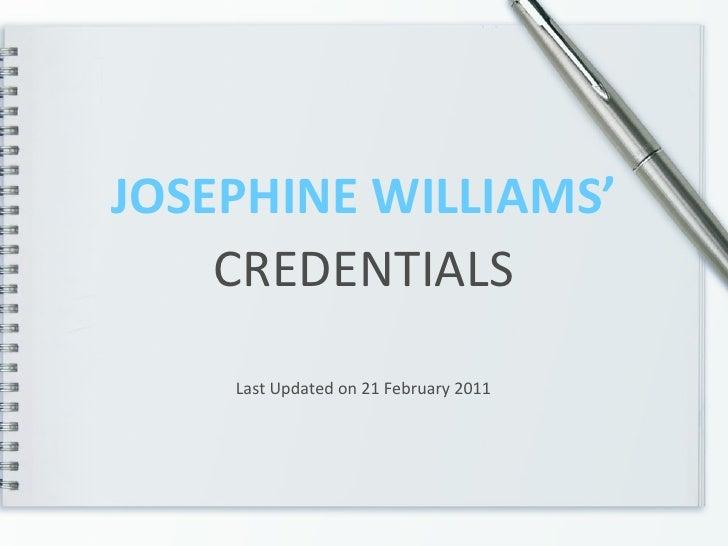 JW Credentials
